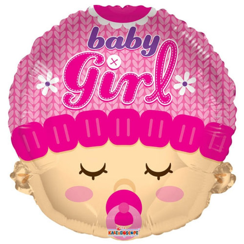 Baby Girl Head Shape Foil Balloon