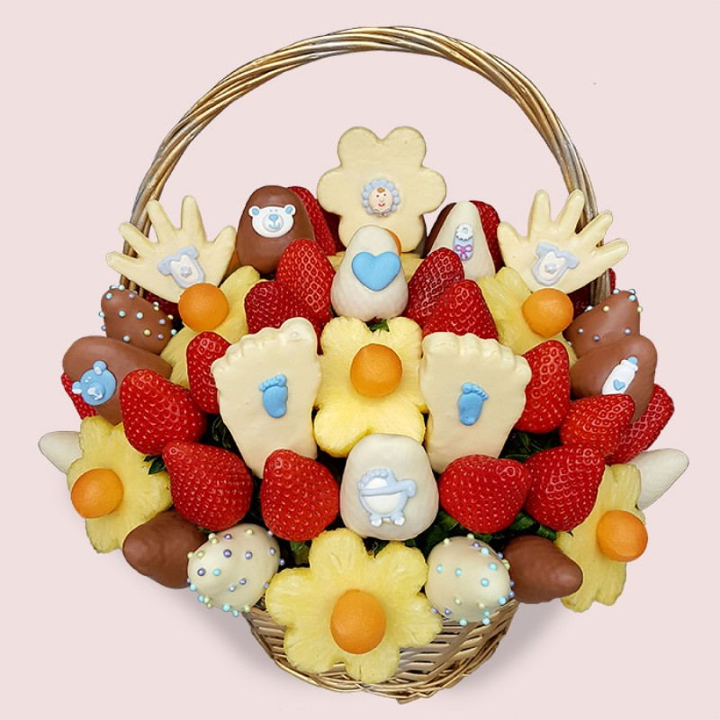 Fruity Gift Baby Shower Bouquet Boy Edible Fruit Gifts London