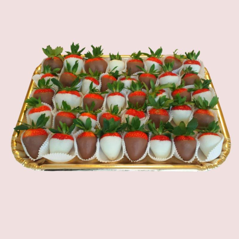 Chocolate Dipped Strawberries Platter