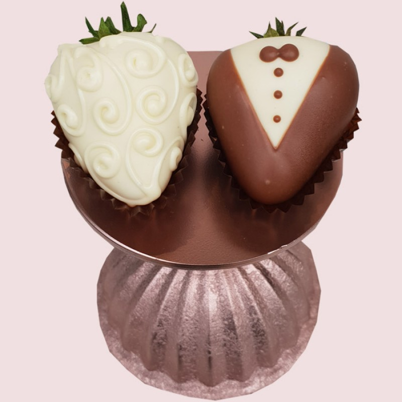 Bride & Groom Classic Strawberries