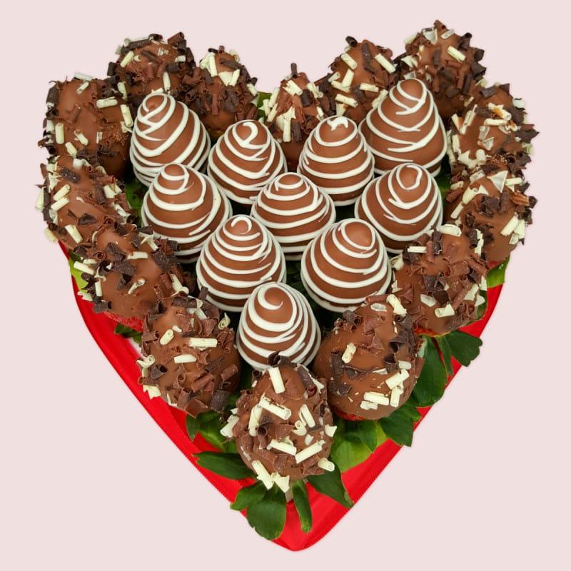 Chocolate Strawberries Love Heart
