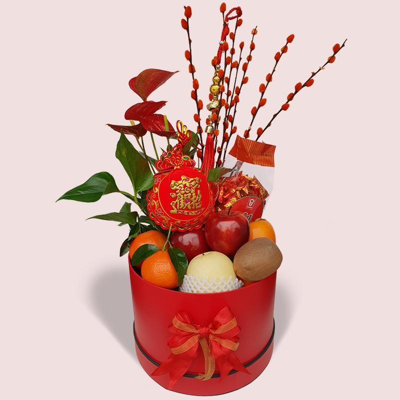 CNY Fruit & Flowers Arrangement