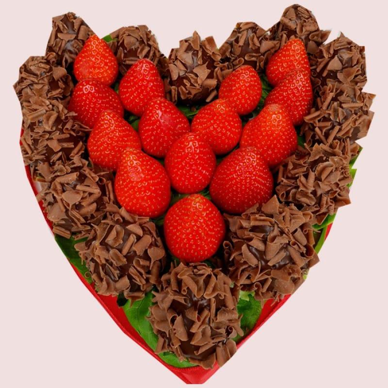 NEW! Dark Chocolate Berry Heart