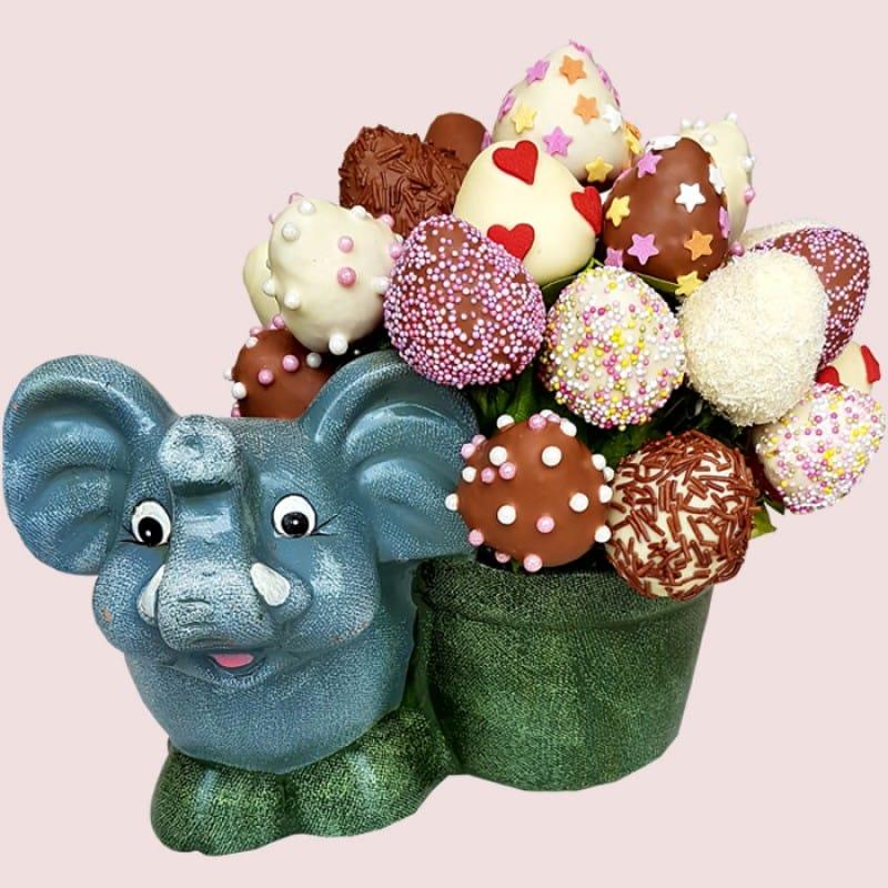 Happy Elephant Strawberry Bouquet
