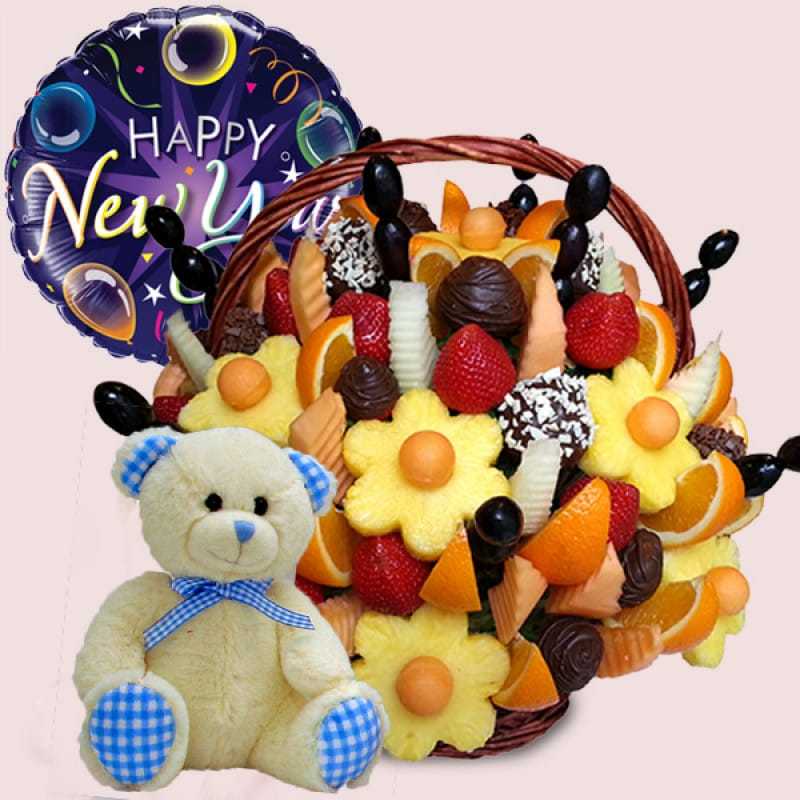 Happy New Year Fruit Basket-Package