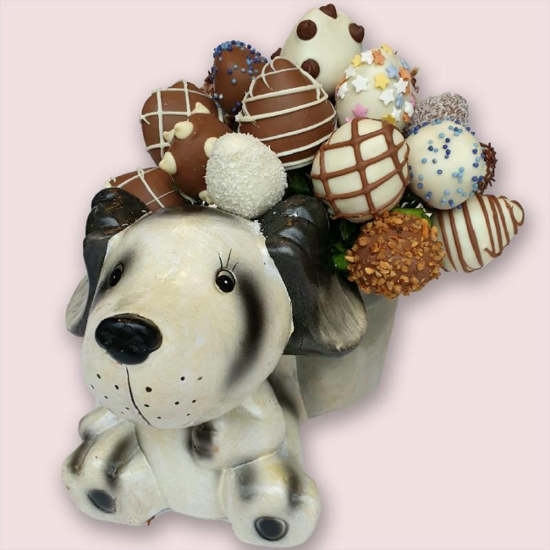 NEW! Happy Puppy Chocolate Bouquet