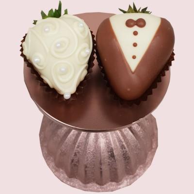 Bride & Groom Luxury Chocolate Strawberries