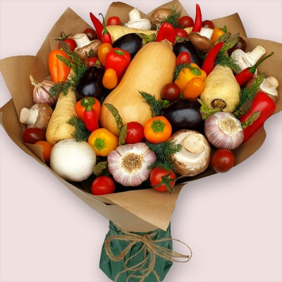 NEW! Fresh-Garden Vegetable Bouquet