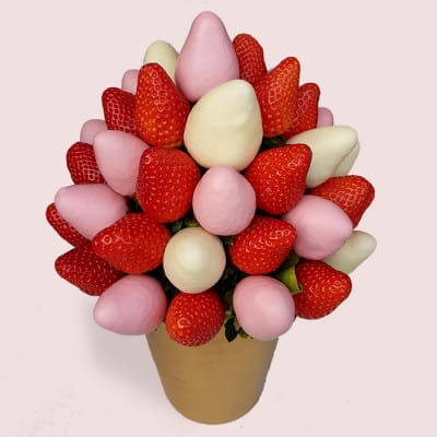 Fruity Gift Chocolate Covered Strawberries Edible Fruits Prepared