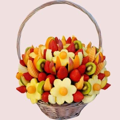 NEW! Rainbow Edible Fruit Basket