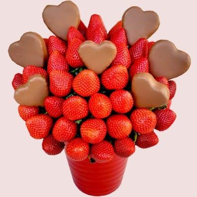 Valentine's Hearts Strawberry Bouquet