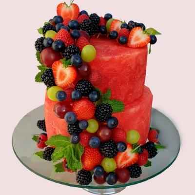 NEW! Watermelon Fruit Cake