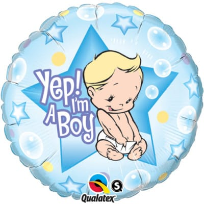'Yep! I'm A Boy' Balloon