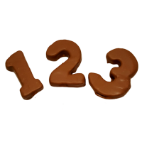 Pineapple Chocolate Numbers 2 pcs