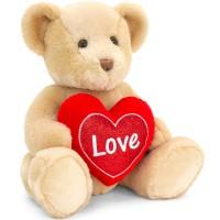 Valentine's Teddy Bear Holding a Heart